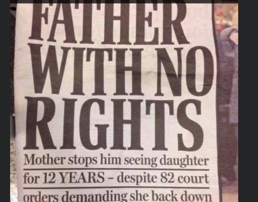 Father with no rights: Mother stops him seeing daughter for 12 YEARS – despite 82 court orders demanding she back down